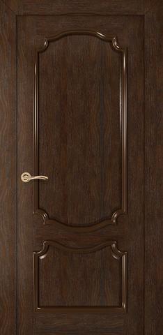 Дверь Румакс Премьера ДГ, цвет каштан, глухая