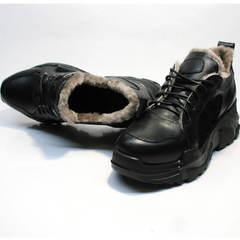 Зимние кроссовки с натуральным мехом женские Studio27 547c All Black.