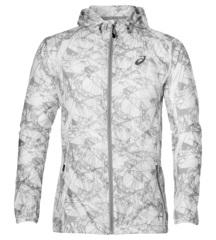 Мужская куртка ветровка для бега Asics Fuzex Packable 141640 1103 белая