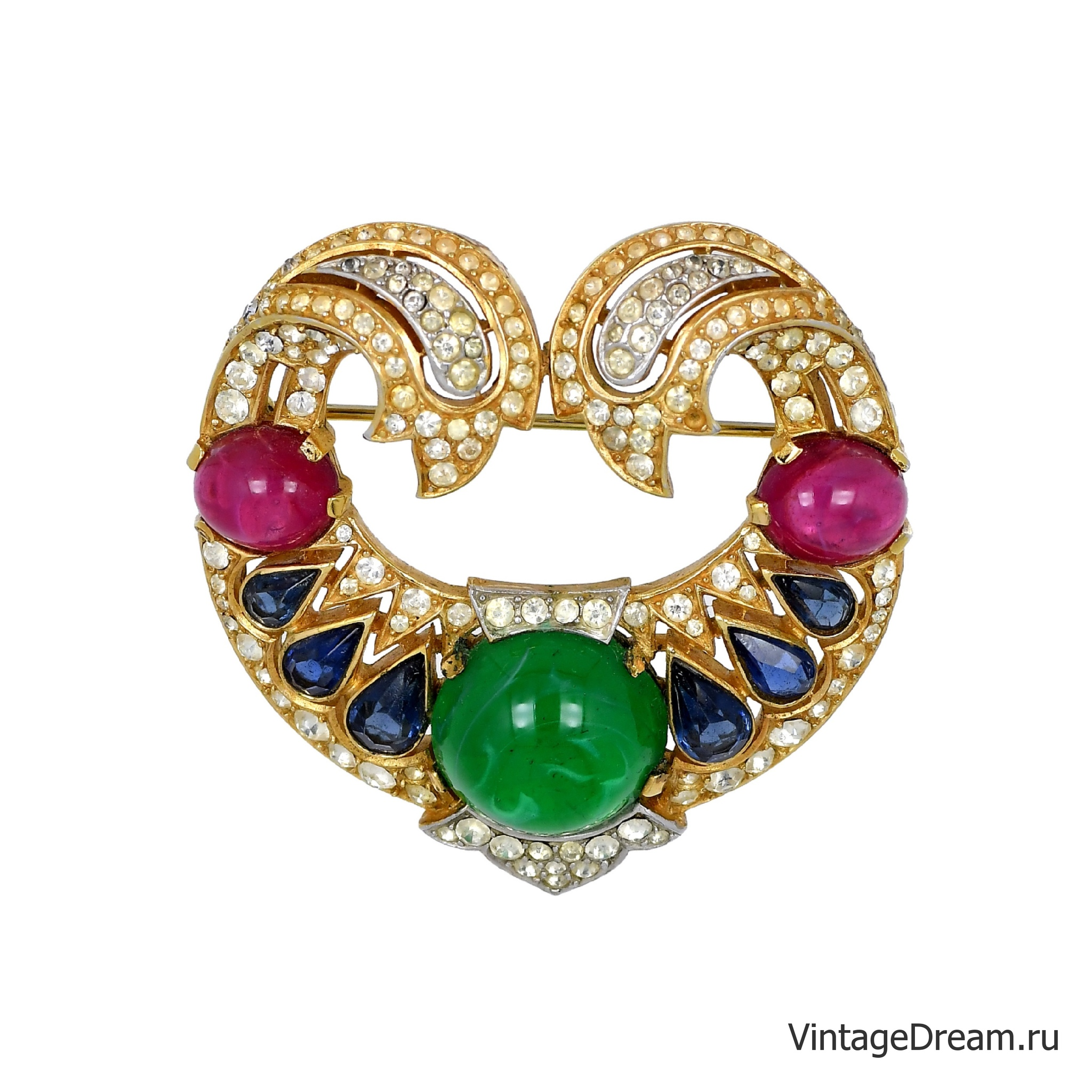 "Брошь от Trifari из коллекции ""The Jewels of India"" 1965 года"