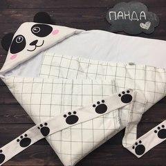 Демисезонный конверт одеяло Панда белая