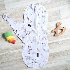 MamaPapa. Комплект с коконом и шапочкой, limited series Заиньки