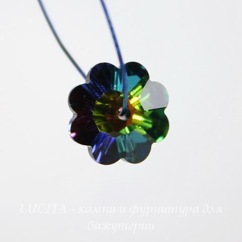 """3700 Бусина - рондель Сваровски """"Цветочек"""" Crystal Vitrail Medium 10 мм"""