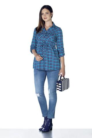 Блузка для беременных 07860 синий