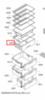Разделитель ящика для фруктов / овощей для холодильника Bosch (Бош)/Siemens (Сименс) - 741326