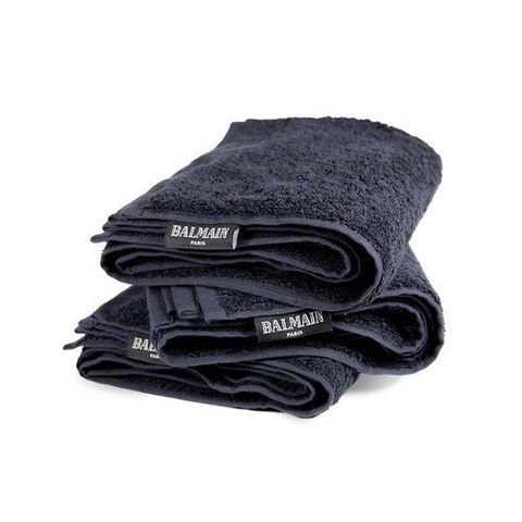 Balmain Черное полотенце Black Balmain Salon Towel 48x80 cм