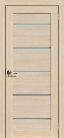 > Экошпон Двероникс 06, стекло матовое, цвет ясень латте, остекленная
