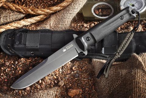Тактический нож Trident D2 Black Titanium