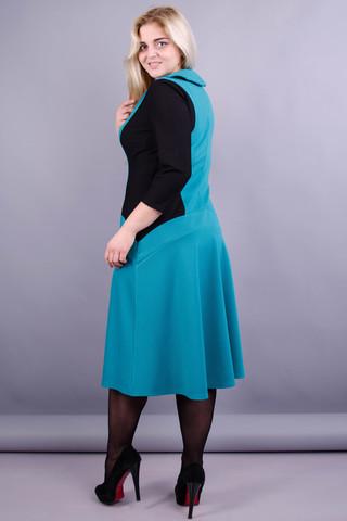 Ріджина. Оригінальна сукня великих розмірів для жінок. Бірюза.