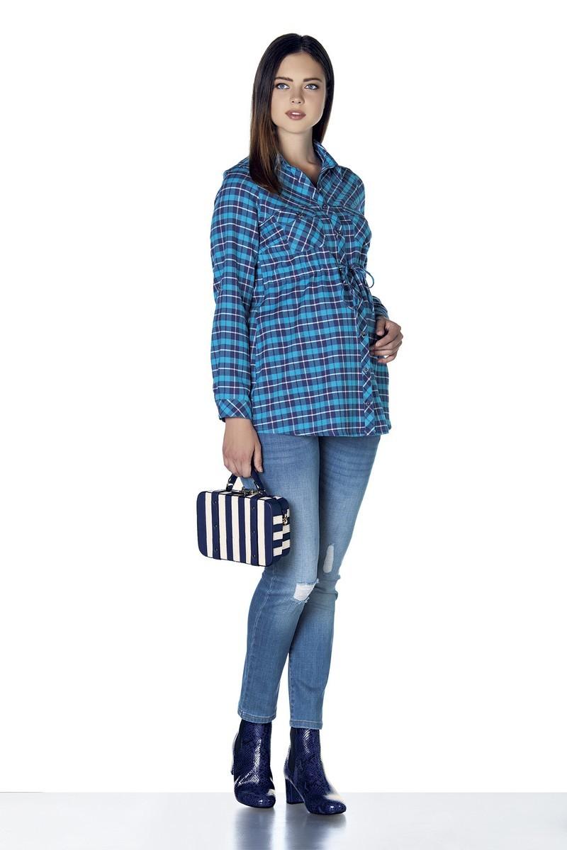 Блузка 07860 синий
