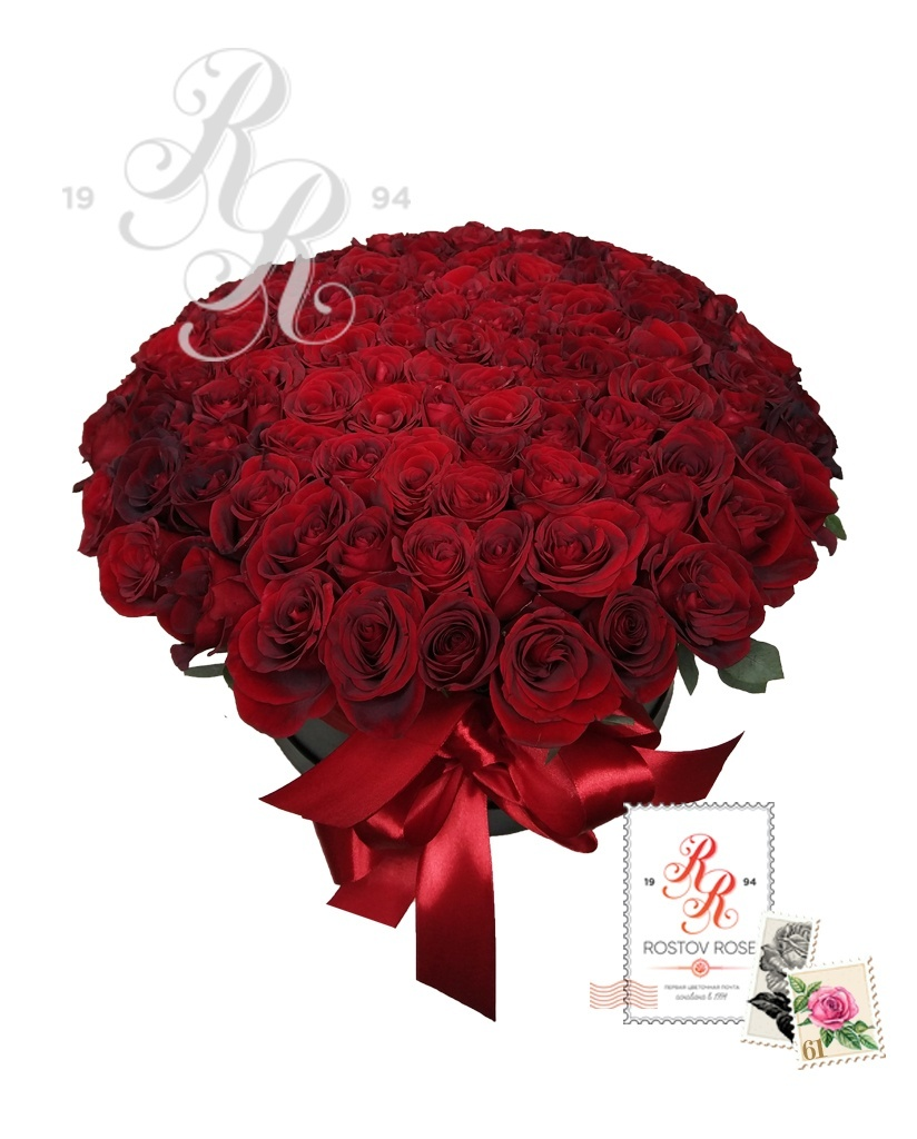 201 Красная роза в коробке