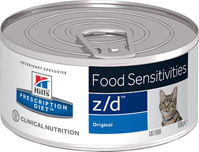 Кошки Ветеринарный корм для кошек при пищевых аллергиях Hill`s Prescription Diet z/d зд.png