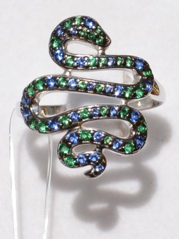 Змея-12586 (кольцо из серебра)