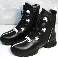 Ботинки на зиму женские Ripka 3481 Black-White.