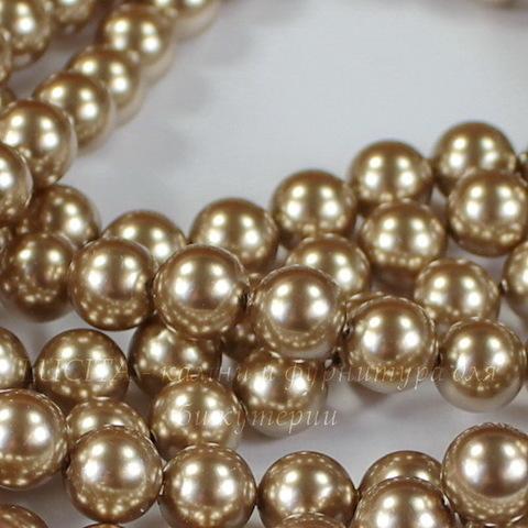 5810 Хрустальный жемчуг Сваровски Crystal Bronze круглый 8 мм , 5 шт