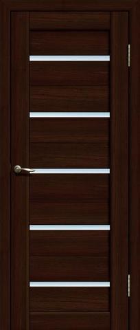 > Экошпон Двероникс 06, стекло матовое, цвет венге, остекленная