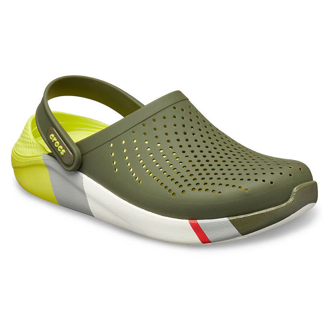 Сабо Crocs LiteRide Colorblock Clog Army Green/White