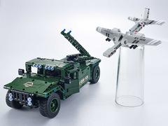 Конструктор QIHUI с мотором и радиоуправлением Джип с беспилотником, 506 деталей