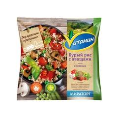 """Бурый рис с овощами и зеленью """"Vитамин""""  400 г"""