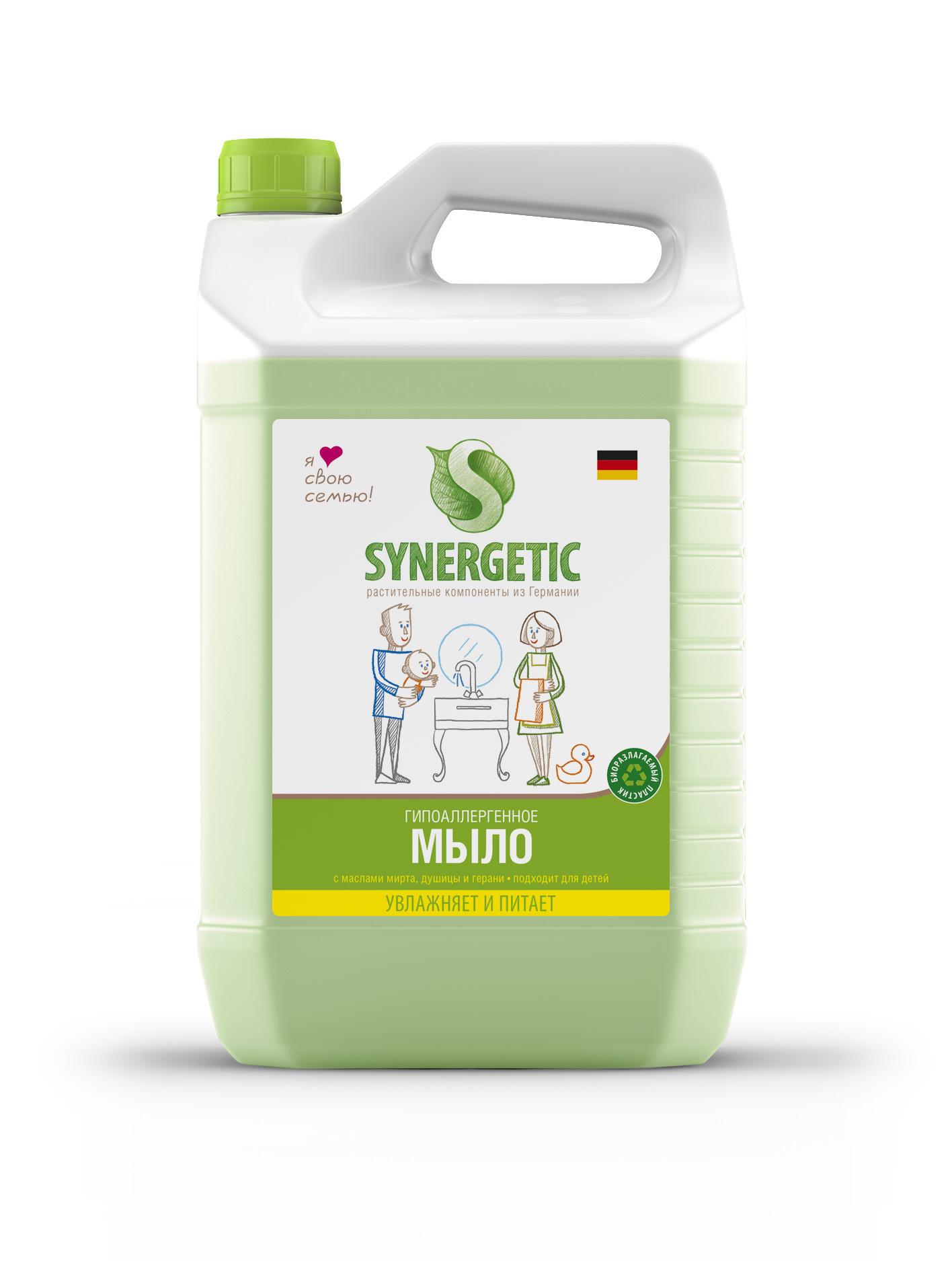 Жидкое мыло, SYNERGETIC, травы, 5 л.