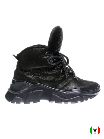 Ботинки Fru.it, артикул 5250, сезон зима, цвет чёрный, материал замша, цена 18 500 руб., veroitaly.ru