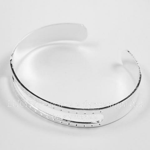 Основа для браслета, 15,6 см (цвет - светлое серебро)