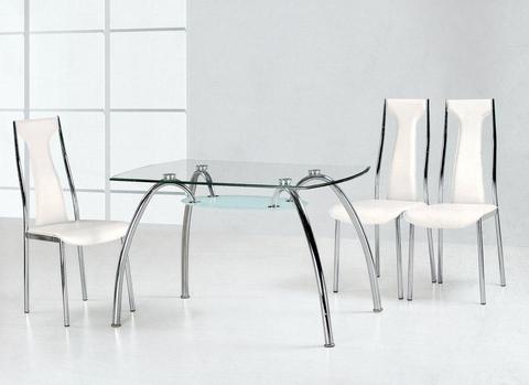 Стол обеденный GT-323 прямоугольны стекло