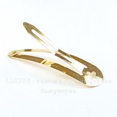 Основа для заколки клик-клак, 49х14 мм (цвет - золото)