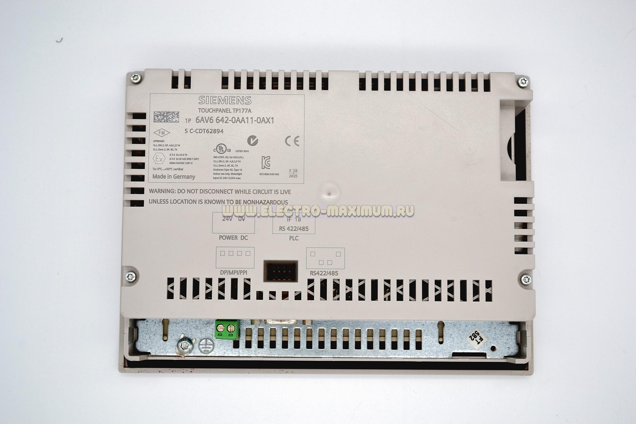 Панель оператора SIEMENS SIMATIC TP 177A 6AV6 642-0AA11-0AX1