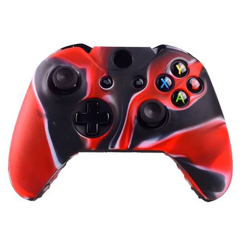 Xbox One Чехол для геймпада (камуфляж черно-красный)