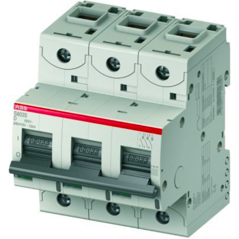 Автоматический выключатель 3-полюсный 13 А, тип D, 15 кА S803C D13. ABB. 2CCS883001R0131