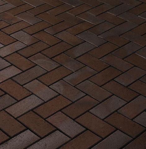 CRH - Bautzen / Libra, коричневый пестрый, 200x100x52 - Клинкерная тротуарная брусчатка