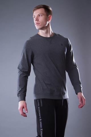 Хлопковый мужской джемпер свитшот «Великоросс» цвета графит