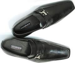 Модельные мужские туфли с квадратным носом Mariner 4901 Black.