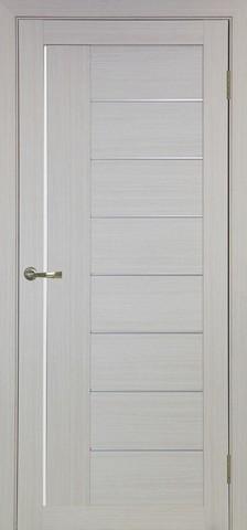 Дверь Optima Porte Турин 524.21, стекло Мателюкс, цвет беленый дуб, остекленная