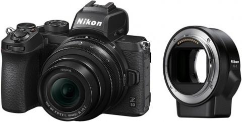 Беззеркальная фотокамера Nikon Z 50 + NIKKOR Z DX 16-50mm VR + FTZ