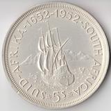 K5499, 1952, ЮАР, 5 шиллингов 300 лет открытия Южной Африки