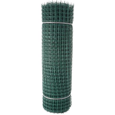 Сетка садовая пластиковая квадратная Строительная ПРОФИ 33x33мм, 1x20м, зеленая