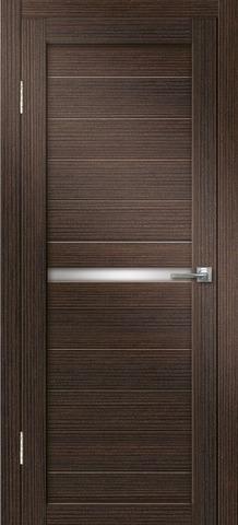 Дверь Дверная Линия Беатрис-2, стекло снег, цвет венге, остекленная