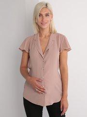 Евромама. Блуза для беременных и кормящих креп-шифон, бежевый