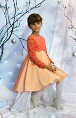 Нарядное платье для девочки (оранжевое)