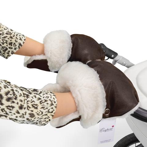 Муфта-рукавички для коляски Esspero Gretta (100% овечья шерсть)