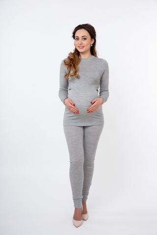 Блузка для беременных 08104 серый