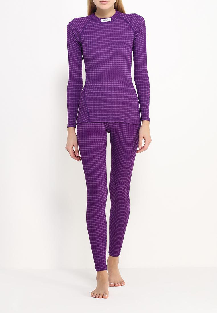 Женский комплект термобелья Craft Warm Wool Purple (1903724-2495-1903725-2495) фото