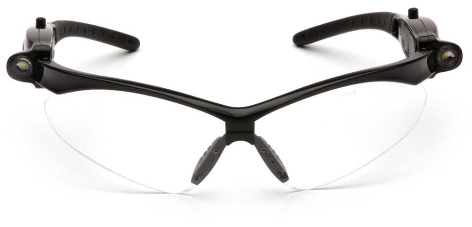Очки баллистические стрелковые Pyramex PMXTREME SB6310SPLED LED фонарик прозрачные 96%