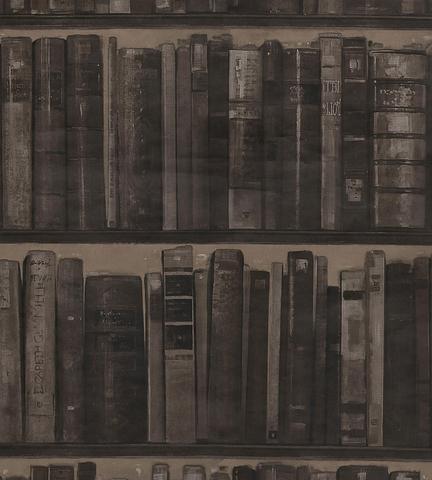 Обои Andrew Martin Navigator Library Cocoa (комплект из 2 рулонов), интернет магазин Волео