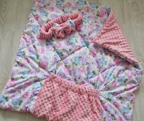 Летнее одеяло - конверт - трансформер на выписку Волшебный сад