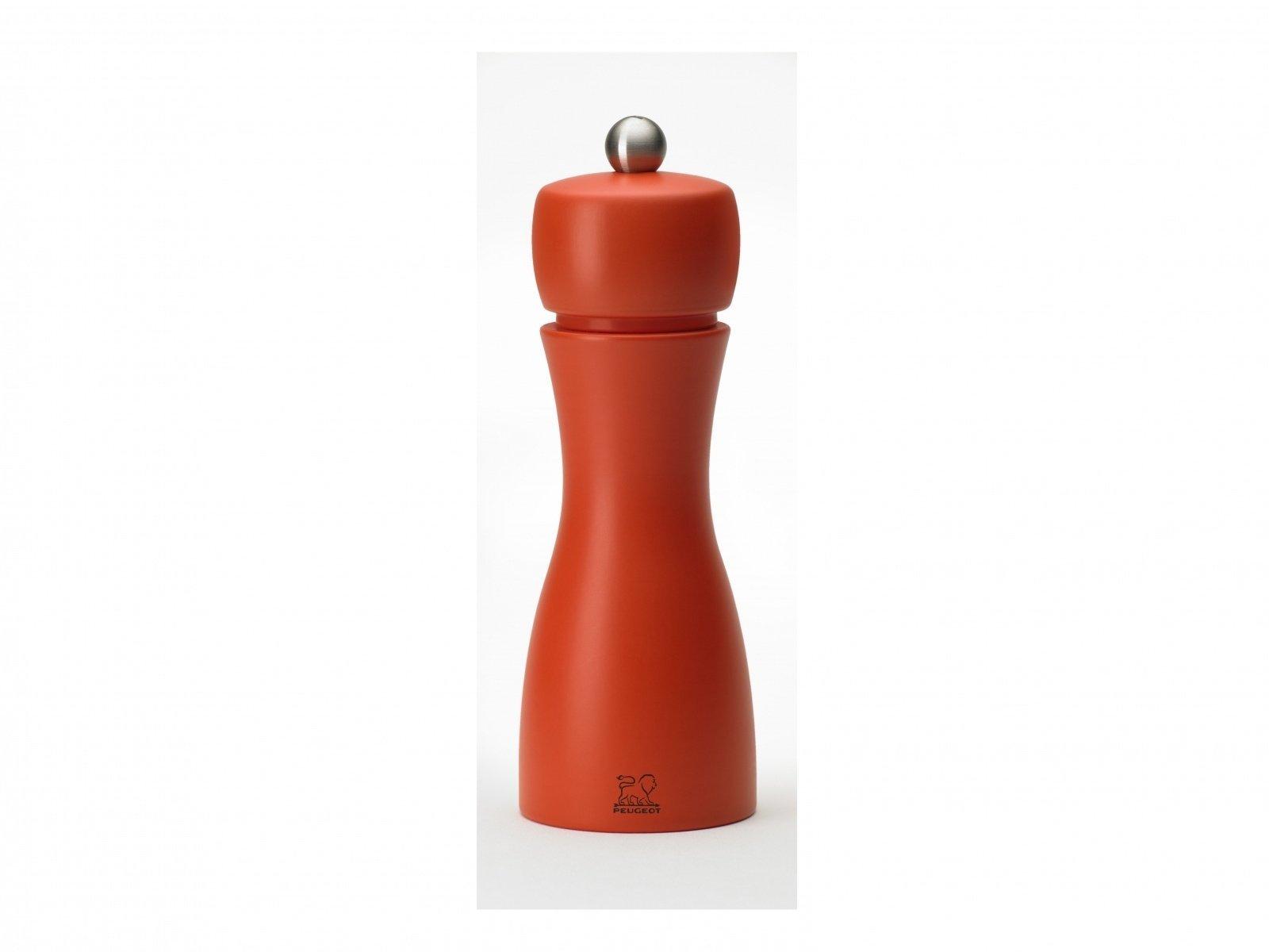 Мельницы Tahiti Peugeot для соли и перца, 15 см, коралловый+оранжевый (набор)