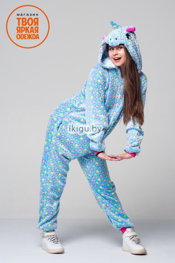 Пижамы кигуруми Единорог Blue Star blustar.jpg