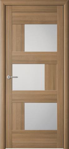 Дверь Фрегат ALBERO Стокгольм, стекло матовое, цвет кипарис янтарный, остекленная